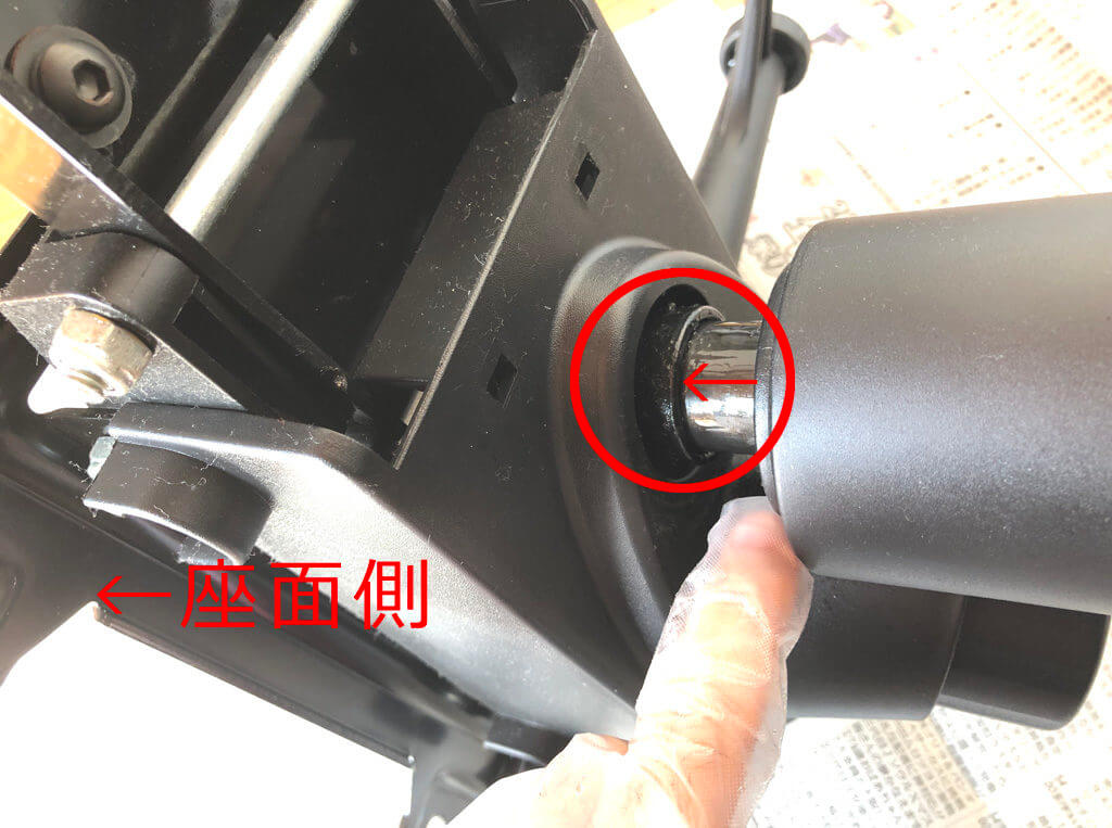 ガス圧式チェア分解3